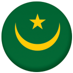 Mauritania 1959-2017 Country Flag 25mm Flat Back